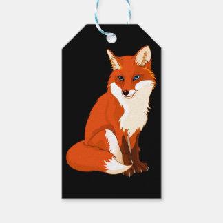 Etiqueta Para Presente Fox bonito que senta Tag feitos sob encomenda do