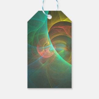 Etiqueta Para Presente Fractal abstrato colorido
