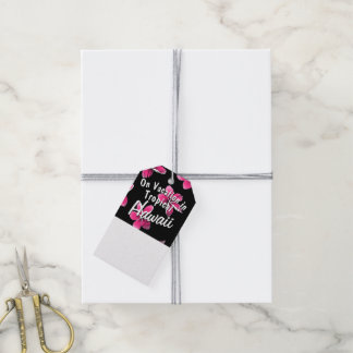 Etiqueta Para Presente Frangipani cor-de-rosa