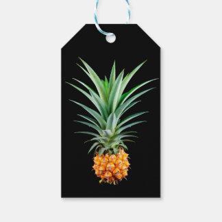 Etiqueta Para Presente fundo preto minimalista elegante do abacaxi  