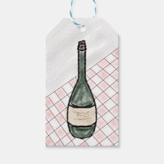 Etiqueta Para Presente Garrafa de vinho