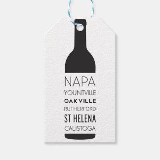 Etiqueta Para Presente Garrafa de vinho das cidades de Napa Valley