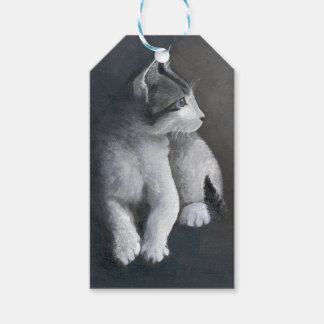 Etiqueta Para Presente Gatinho do gato malhado