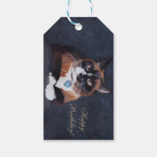 Etiqueta Para Presente Gato bonito