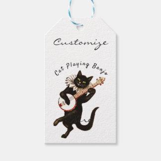 Etiqueta Para Presente Gato que joga o banjo Thunder_Cove