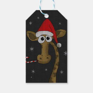 Etiqueta Para Presente Girafa do Natal
