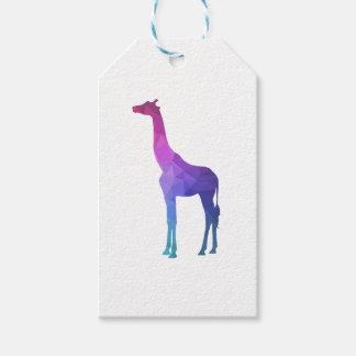 Etiqueta Para Presente Girafa geométrico com ideia vibrante do presente