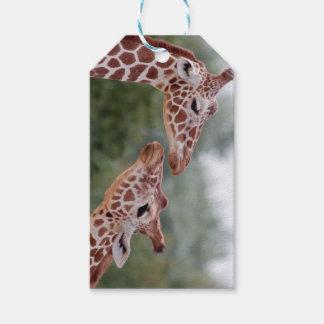 Etiqueta Para Presente Girafas em Tag do presente do amor