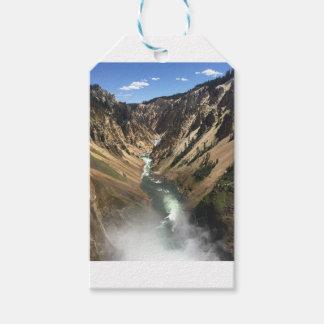 Etiqueta Para Presente Grand Canyon no parque de Yellowstone