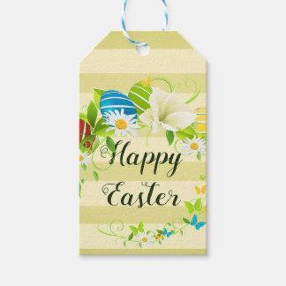 Etiqueta Para Presente Grinalda das flores e das borboletas do primavera