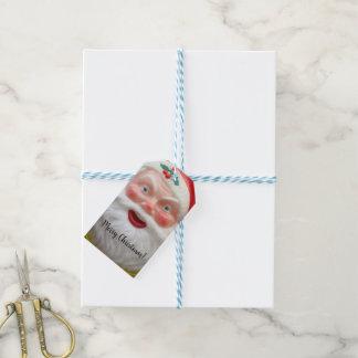 Etiqueta Para Presente Grinalda de Papai Noel do vintage