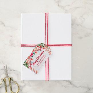 Etiqueta Para Presente Grinalda do feriado: Tag personalizado do Natal