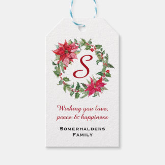 Etiqueta Para Presente Grinalda do Natal personalizada