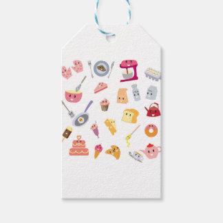 Etiqueta Para Presente Grupo bonito do ícone da cozinha da bebida e do