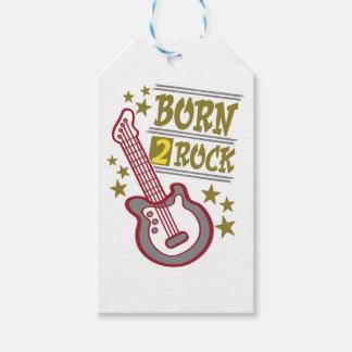 Etiqueta Para Presente Guitarra nascida da rocha, design do guitarrista