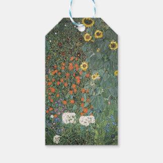 Etiqueta Para Presente Gustavo Klimt - flores dos girassóis do jardim do