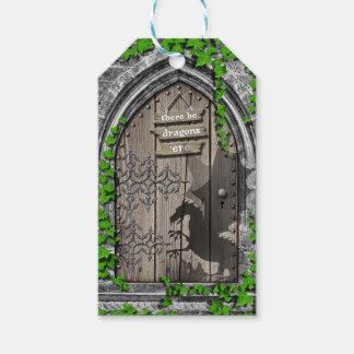 Etiqueta Para Presente Haja rei Arthur Medieval Dragão Porta dos dragões