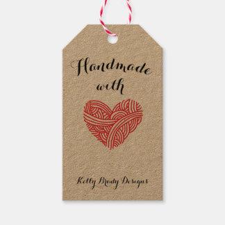 Etiqueta Para Presente Handmade com o artista da fibra do amor