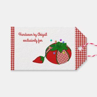 Etiqueta Para Presente Handsewn por você e por seu Pincushion