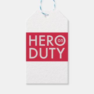 Etiqueta Para Presente Hero on Duty