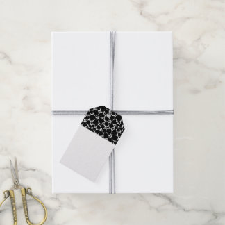 Etiqueta Para Presente Hibiscus preto e branco tropical