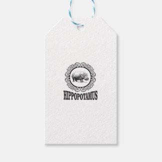 Etiqueta Para Presente Hipopótamo quadro