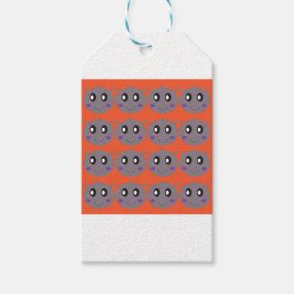 Etiqueta Para Presente Hipopótamos pequenos bonitos na laranja