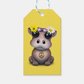 Etiqueta Para Presente Hippie bonito do hipopótamo do bebê