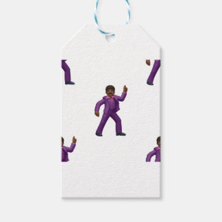 Etiqueta Para Presente Homem da dança de Emoji
