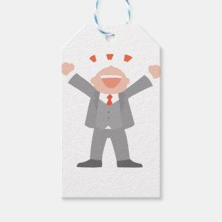 Etiqueta Para Presente Homem de negócio ectático