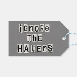Etiqueta Para Presente Ignore os haters.