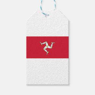 Etiqueta Para Presente Ilha da bandeira do homem - bandeira Manx -