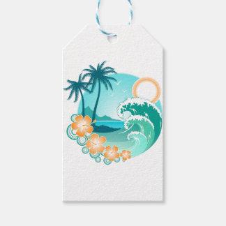 Etiqueta Para Presente Ilha havaiana 1