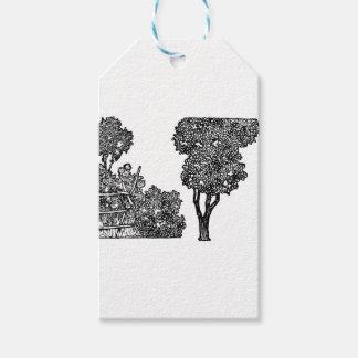 Etiqueta Para Presente Ilustração das árvores