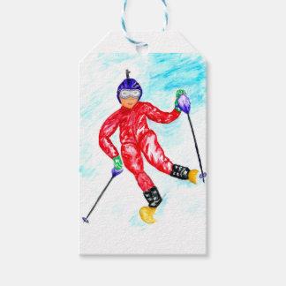 Etiqueta Para Presente Ilustração do esporte do esquiador