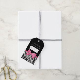 Etiqueta Para Presente Impressão na moda da zebra com o boutique