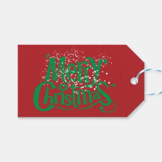 Etiqueta Para Presente Impressão nevado do Feliz Natal