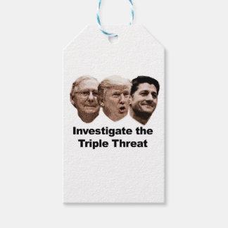 Etiqueta Para Presente Investigue a ameaça tripla