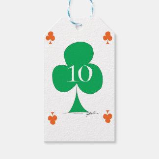 Etiqueta Para Presente Irlandês afortunado 10 dos clubes, fernandes tony