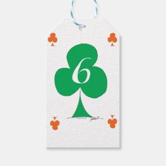 Etiqueta Para Presente Irlandês afortunado 6 dos clubes, fernandes tony