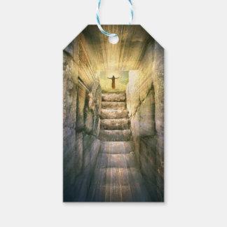 Etiqueta Para Presente Jesus na ressurreição vazia da páscoa do túmulo
