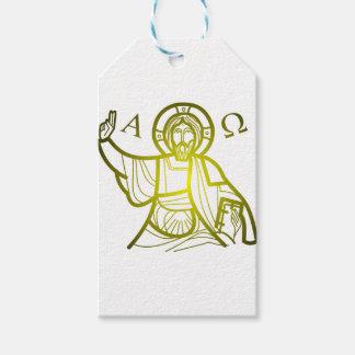 Etiqueta Para Presente Jesus salvar alfa e Omega
