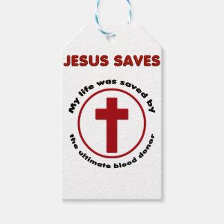 Etiqueta Para Presente jesus salvar, camisa cristã do presente t da