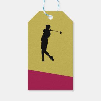 Etiqueta Para Presente Jogador de golfe