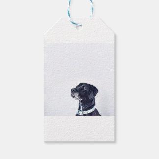 Etiqueta Para Presente Labrador retriever preto customizável