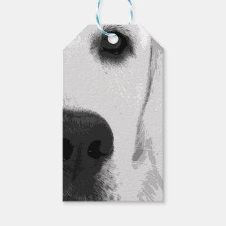 Etiqueta Para Presente Labrador retriever preto e branco