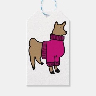 Etiqueta Para Presente Lama bonito que veste uma camisola