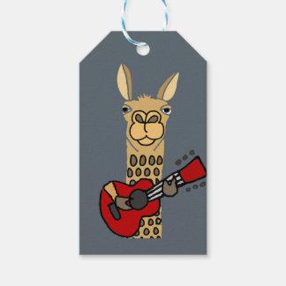Etiqueta Para Presente Lama engraçado que joga a guitarra