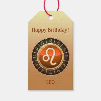 Etiqueta Para Presente Leo - o sinal do zodíaco do leão