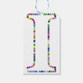 Etiqueta Para Presente Letra da estrela do arco-íris mim